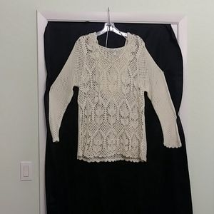 dress barn woman crochet top size 14/16